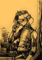 Peter Fabian cyberpunk version by BloodlustComics