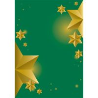 Beautiful Christmas green background golden stars by cgvector