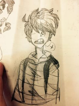Old drawing of me by DirtShark21