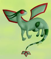 Flygon. The dusty Dragonfly by Sceifrevan