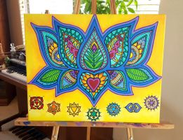 Lotus Chakra Painting - Finished! by andromeda