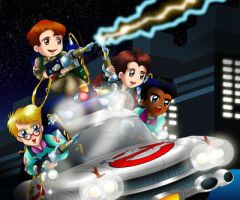 The Real Ghostbusters Chibi by ExoroDesigns
