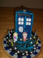 TARDIS Birthday Cake by The5IsSi5lent