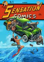 sensation comics 51 coveREMAKE by deffectx