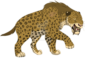 Smilodon by Lil-Cheetah