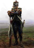 French Skirmisher 1809 by Mitchellnolte