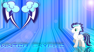 Winter Skyfire Wallpaper by JamesG2498
