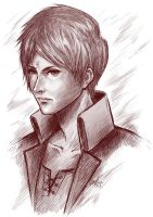 Eren Yeager -sketch- by Takamin