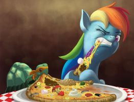 Pizza time by AWildDrawfagAppears