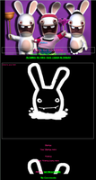 Raving Rabbids Journal Skin by IamRinoaHeartilly