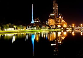 Night: Across the Yarra by DanielleMiner