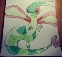 Flygon Drawing by Krayzieee