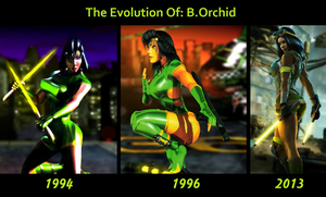 The Evolution of B. Orchid by Jackkalo
