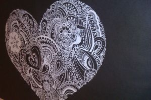 Heart Henna from another view by xe2x