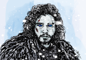 Wight Jon Snow by Argileye
