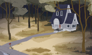 lonely house by taffygiraffe