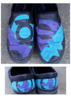 Justice League slip-ons by kaitlabben