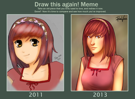 Draw it again meme - Tori by ReneeViolet