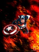 Captain America by willmottram