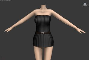 Short dress [WIP 1] by Wampa842