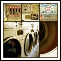 Hot day at the Laundromat by kayne