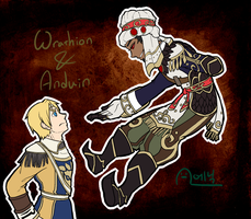 Wrathion and Anduin by AnicMJ