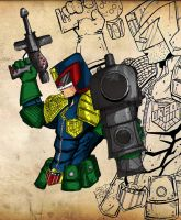 Daily Sketch - Judge Dredd by LloydBridgemanInk