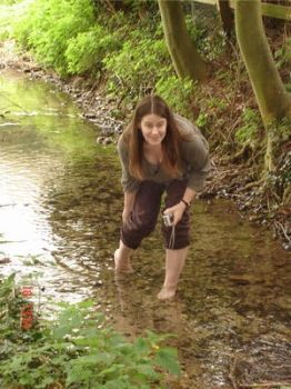 Barefoot in a brook by F-L-O-W-E-R-S