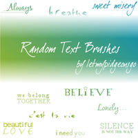 Simple Text Brushes by letmypidgeonsgo