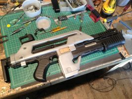 Pulse rifle WIP by Matsucorp