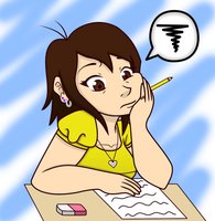 Boring school work by chachi411