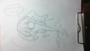 Spider-Man WOD sketch - Spidey action by BMFreed