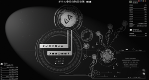 UFOGLOW Rainmeter by theholyghost