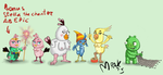 Angry birds girls re-draw by Mrakoboy