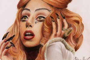 Lady Gaga - Judas Drawing by Irishaaa