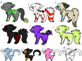 adoptables set 1 by Lantern-Dragon