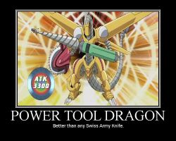 YGO - Power Tool Dragon by Kiose-Style