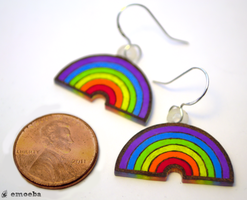 Rainbow Earrings by Emoeba