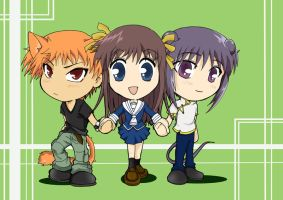Chibi Fruits Basket by Letucse