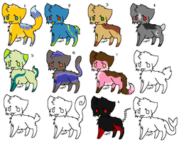 1 Point Cat Adoptables (One left) by ChuChuZorua