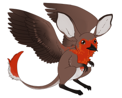 Jerboa x Robin Gryphon by Kingfisher-Gryphon