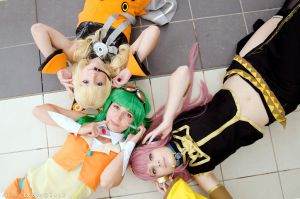 Luka + Gumi + SeeU ~ VOCALOID cosplay by Rael-chan89