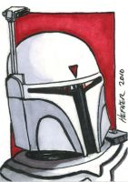 Boba Fett-McQuarrie Style ACEO by HalHefnerART
