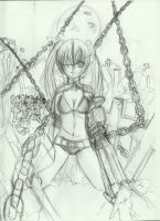 Black rock shooter 'croquis' by Coco-of-the-Forest