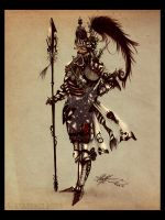 6 Of Hearts Knight by Calliopie