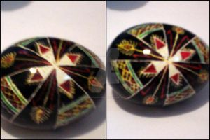 Wheat Cross Pysanky Egg by cybermathwitch-klm