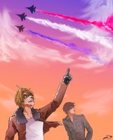 Red White Blue's in the sky by gemmingi