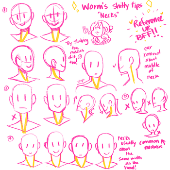 Worms Shitty Tips [Neck] by bookworm-doodles