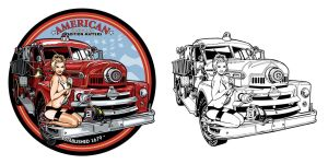 American Firefighter Pinup by benke33