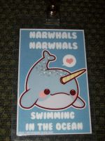 Narwhals Swimming in the Ocean by floutistvivi89
